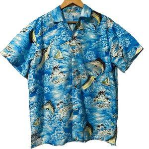 Vintage Summer/Beach Button Down Shirt size L